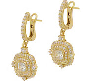 Judith Ripka 14K Clad 1.65 cttw Diamonique Earrings - J352415