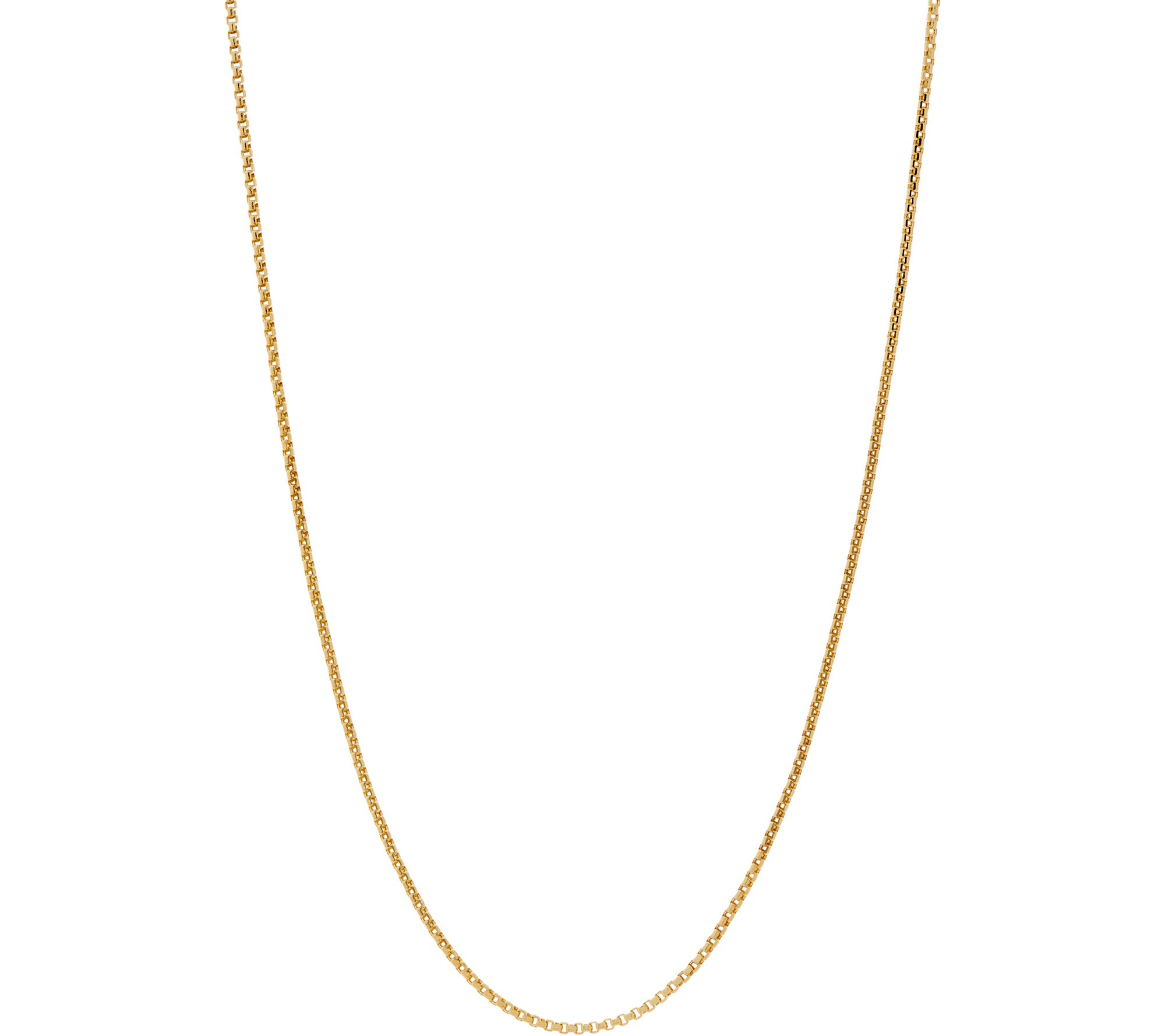 Italian Gold Round Box Chain 16