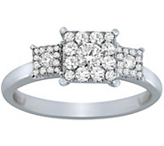 Cluster Design Diamond Ring, 14K, 1/2 cttw, byAffinity - J375215
