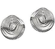 Sterling Diamond-Cut Freeform Earrings by Silver Style - J375815