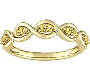 0.25 cttw Yellow Sapphire Infinity Ring, 14K Yellow Gold - J376115