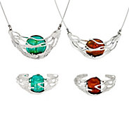 Kalos by Hagit Sterling Silver and Glass Collection - J56015