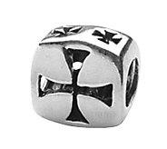 Prerogatives Sterling Silver Maltese Cross Bead - J108916
