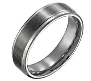 Titanium Beveled Edge 6mm Brushed and Polished-Unisex - J110016