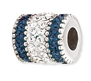 Prerogatives Sterling Blue Crystal Barrel Bead - J113216