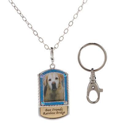 Kirks folly best friends rainbow bridge necklace amp keychain set