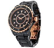 As Is Bronzo Italia Round Ceramic Dial Bracelet Watch - J268616