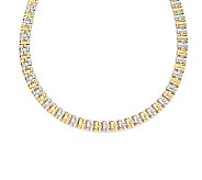 Melania Woven Design Two-Tone Collar Necklace - J268916