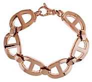 As Is Bronzo Italia 8 Polished Status Link Bracelet - J286216