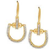 Diamond Status Link Earrings, Sterling or 14K Clad, 1/4cttw by Affinity - J286316
