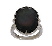 As Is Honora Mother-of-Pearl Oval Doublet Sterling Ring - J287716