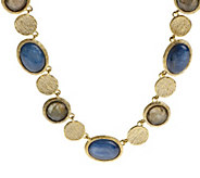 As Is Veronese 18K Clad 18 Multi-Gemstone Necklace - J291516