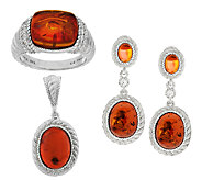 Judith Ripka Sterling Amber Collection - J291616