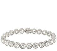 Judith Ripka Sterling 118 Facet Diamonique Bracelet 7-1/4 - J293816