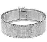 Vicenza Silver Sterling 8 Faceted Diamond Cut Cubetto Bracelet, 28.3g - J294216