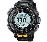 Casio Pathfinder Triple Sensor Multi Function Watch Black Ban - J297616