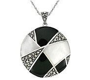 Suspicion Sterling Onyx & Mother-of-Pearl Pendant w/ Chain - J298516