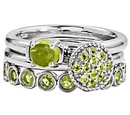 Simply Stacks Sterling Peridot Ring Set - J310016