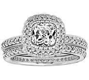 Diamonique 2.50 cttw 2 pc. Bridal Ring Set, Platinum Clad - J310816