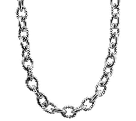 Carolyn pollack sterling silver 20 chain necklace for Carolyn pollack jewelry qvc