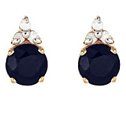 0.95 ct tw Sapphire and Diamond Accent Earrings, 14K Gold - J314916