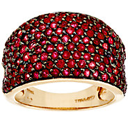 As Is 2.50 ct tw Pave Thai Ruby Domed Ring, 14K Gold - J319116