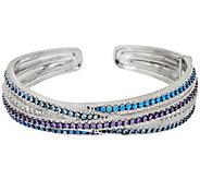 Judith Ripka Sterling 4.00 cttw Diamonique Cuff Bracelet - J321116