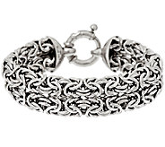 As Is VicenzaSilver 7-1/4 Woven Byzantine Bracelet, 23.7g - J322416