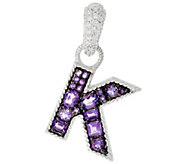 Judith Ripka Sterling Gemstone Initial Enhancer - J325016