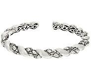 JAI Sterling Croco Texture Twist Hinged Cuff Bracelet - J326016