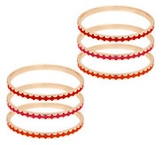 As Is Susan Graver Set of 6 Goldtone Bangles - J327816