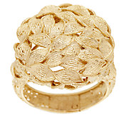 As Is EternaGold Bold Textured Petal Design Ring, 14K Gold - J328016