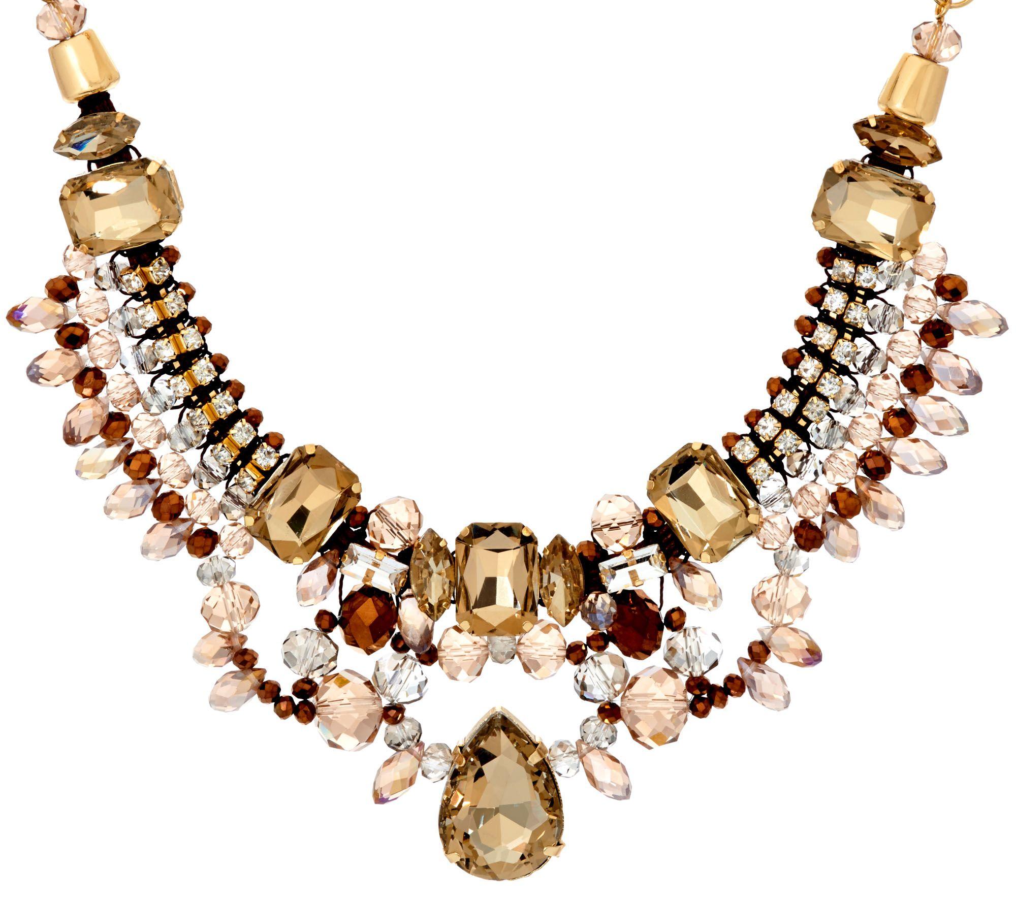 susan graver neutral statement necklace page 1 qvc