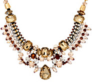 Susan Graver Neutral Statement Necklace - J329216