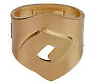 As Is Twisted Diamond Shape Bangle Bracelet - J329916