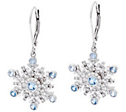 Hallmark Sterling Cubic Zirconia Snowflake Dangle Earrings - J333416