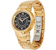 Philip Stein Mens Goldtone Steel Bracelet Active Classic Watch - J334816