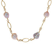 As Is Honora Ming Cultured Pearl 18 Multi -link Necklace 14K Gold, 4.0g - J335216