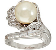 Grace Kelly Collection Simulated Pearl Flower Ring - J346316