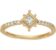 Judith Ripka 14K Gold 1/5 cttw Diamond Ring - J348216