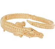 Italian Gold Small Alligator Cuff, 14K Gold 9.8g - J353516