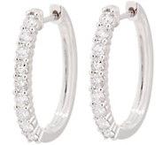 Diamond Elongated Hoop Earrings, 14K, 1.00 cttw, by Affinity - J354016