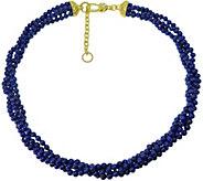 Judith Ripka 14K Clad Torsade w/ Lapis Beads Necklace - J376916