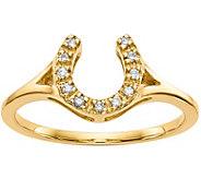 14K Diamond Accent Horseshoe Ring - J377016