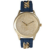 Olivia Pratt Chain & Silicone Strap Watch - J377716