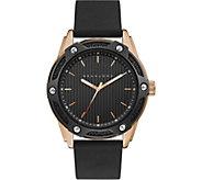 Sean John Mens Rosetone & Black Silicone Analog Watch - J380816