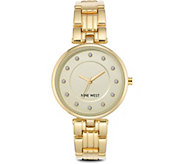 Nine West Ladies Goldtone Embermae Bracelet Watch - J381016