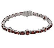 Judith Ripka Sterling 6-3/4 Baquette GemstoneLink Bracelet - J381316