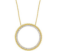 Affinity 14K 1/2 cttw Diamond Open Circle Pendant w/ Chain - J383716