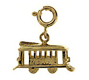 14K Yellow Gold Cable Car Charm - J105817